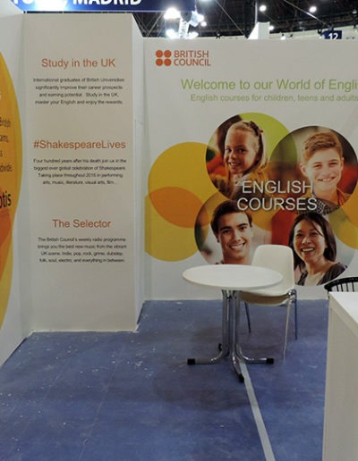 Decoración del stand de British Council en Aula 2016 3 1