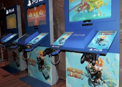 Idus Presentación videojuego Arcade Land Play Station