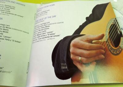 Diseño CD Flamenco tribute to Pat Metheny de Santiago Lara 2