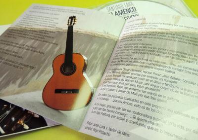 Diseño CD Flamenco tribute to Pat Metheny de Santiago Lara 3