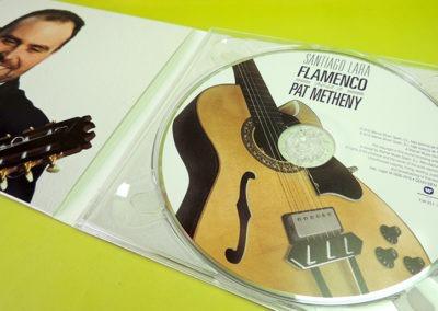 Diseño CD Flamenco tribute to Pat Metheny de Santiago Lara