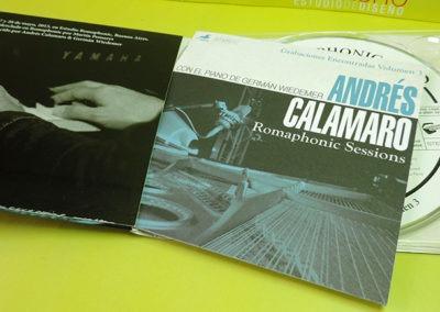 Diseño de CD Romaphonic Sessions de Andrés Calamaro 2