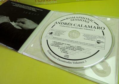 Diseño de CD Romaphonic Sessions de Andrés Calamaro