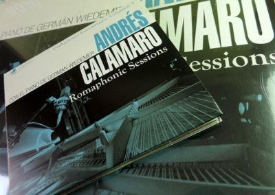 Diseño de CD y Vinilo Romaphonic Sessions de Andrés Calamaro