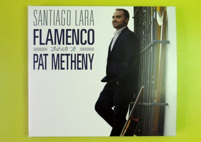 Diseño portada CD Flamenco tribute to Pat Metheny de Santiago Lara