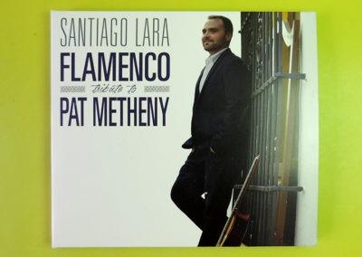 Diseño portada CD Flamenco tribute to Pat Metheny de Santiago Lara