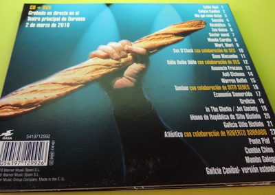 Diseño contraportada disco Fai un sol de carallo Suite de Os Resentidos 1