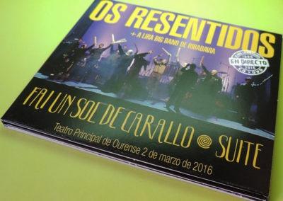 Diseño portada disco Fai un sol de carallo Suite de Os Resentidos 1