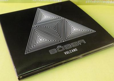 Diseño portada disco Vulcano Sober 1