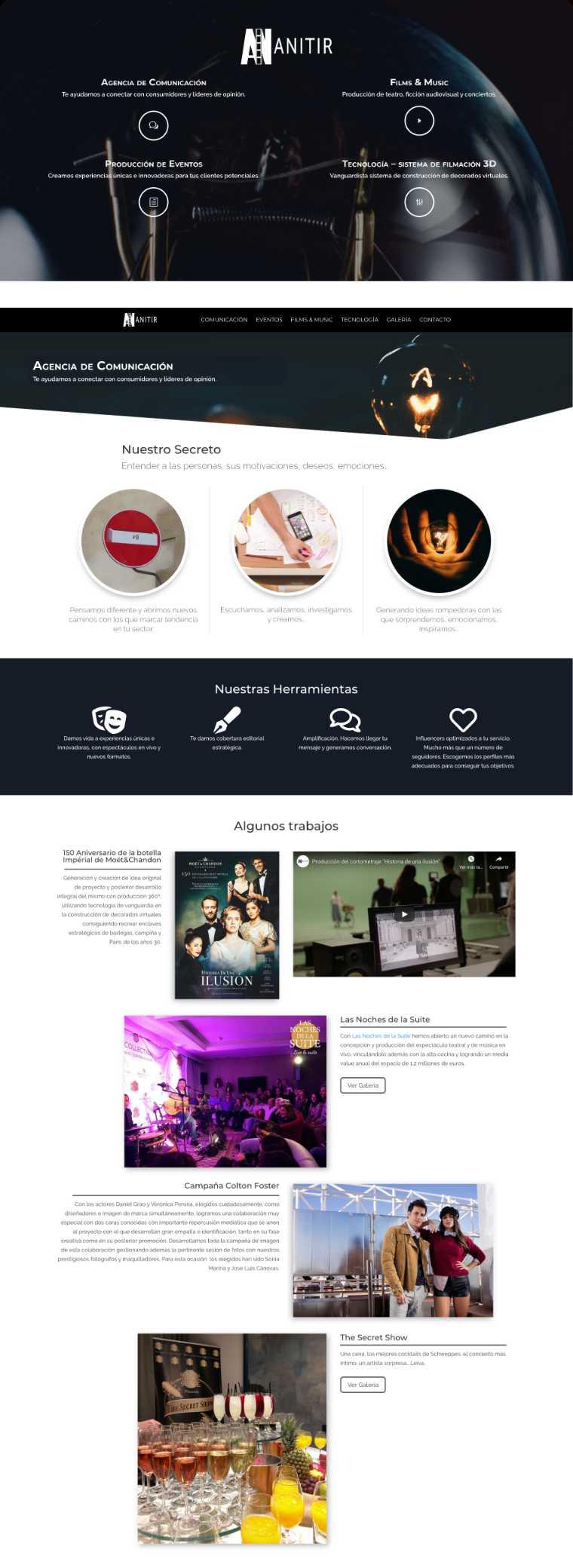 Anitir Diseño Web Rojo Pistacho