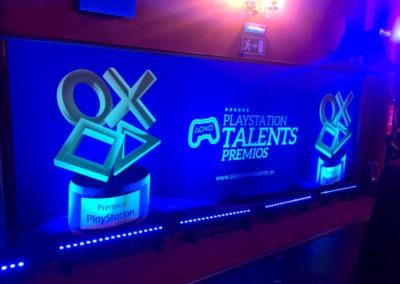 Diseño Decoración Premios Play Station 2017 Rojo Pistacho 1