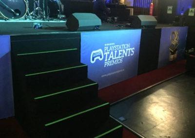 Diseño Decoración Premios Play Station 2017 Rojo Pistacho 3