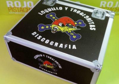 Diseño Edición Especial Discografía Loquillo y Trogloditas Rojo Pistacho 2