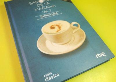 Diseño Libro disco Sinfonias de la Mañana Vol 2 Rojo Pistacho 1
