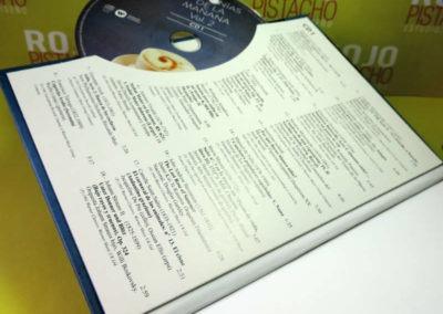 Diseño Libro disco Sinfonias de la Mañana Vol 2 Rojo Pistacho 3