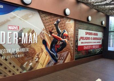 Diseño decoración presentación videojuego Spiderman Rojo Pistacho