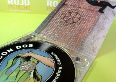 Diseño disco Def Con Dos Trending Distopic Rojo Pistacho 2