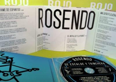 Diseño disco Rosendo De Escalde y Trinchera Rojo Pistacho 5