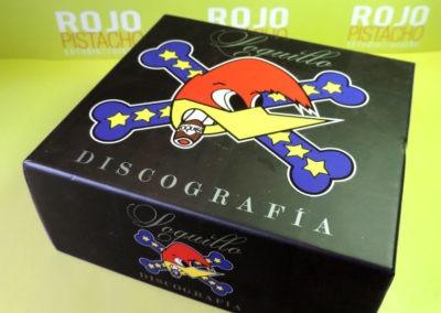 Diseño edición especial Discografía Loquillo Rojo Pistacho
