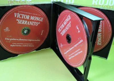 Diseño edición especial Victor Monje Serranito discografía Rojo Pistacho 2