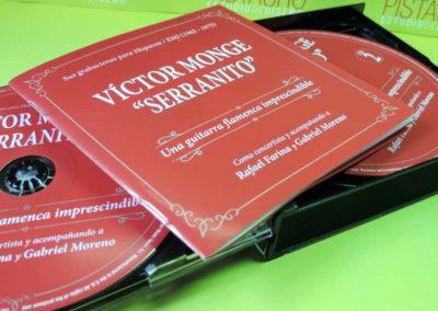 Diseño edición especial Victor Monje Serranito discografía Rojo Pistacho 3